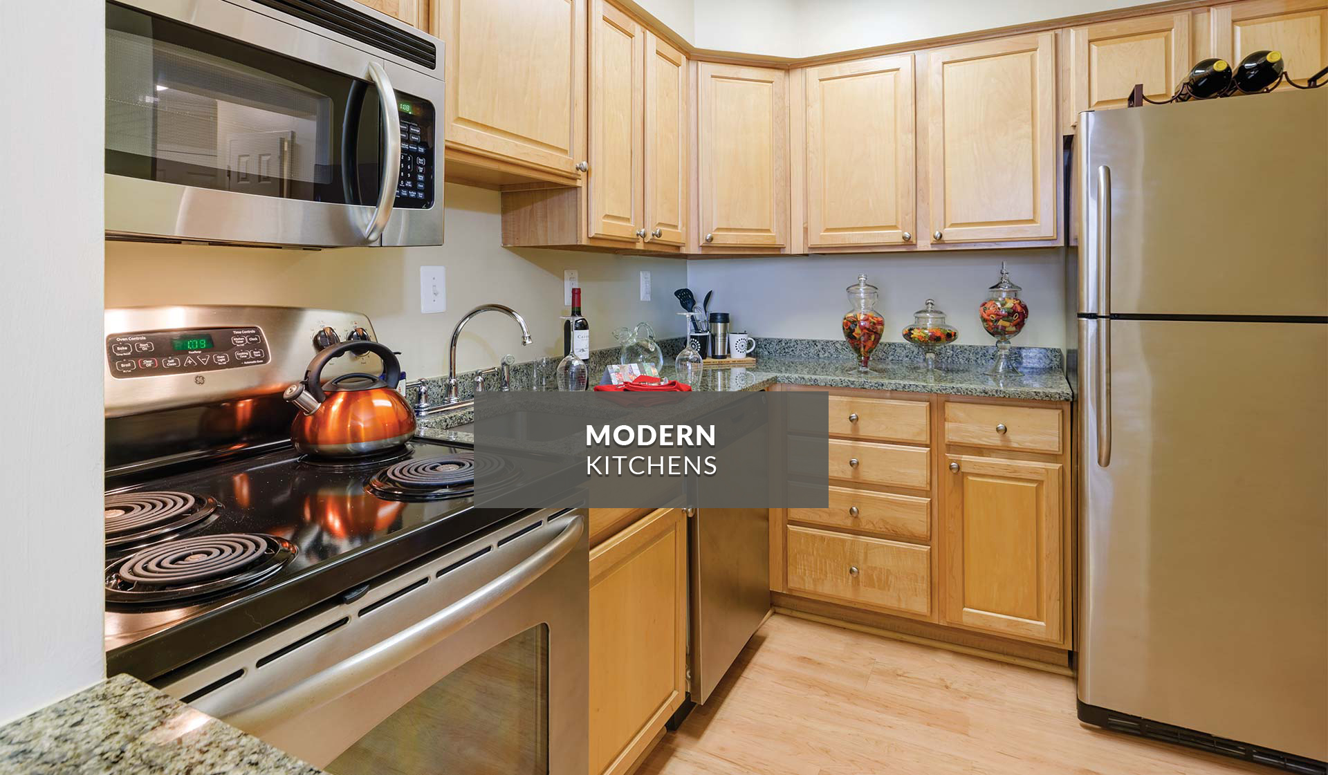 Latrobe Apartments - Modern Kitchens - Washington, DC