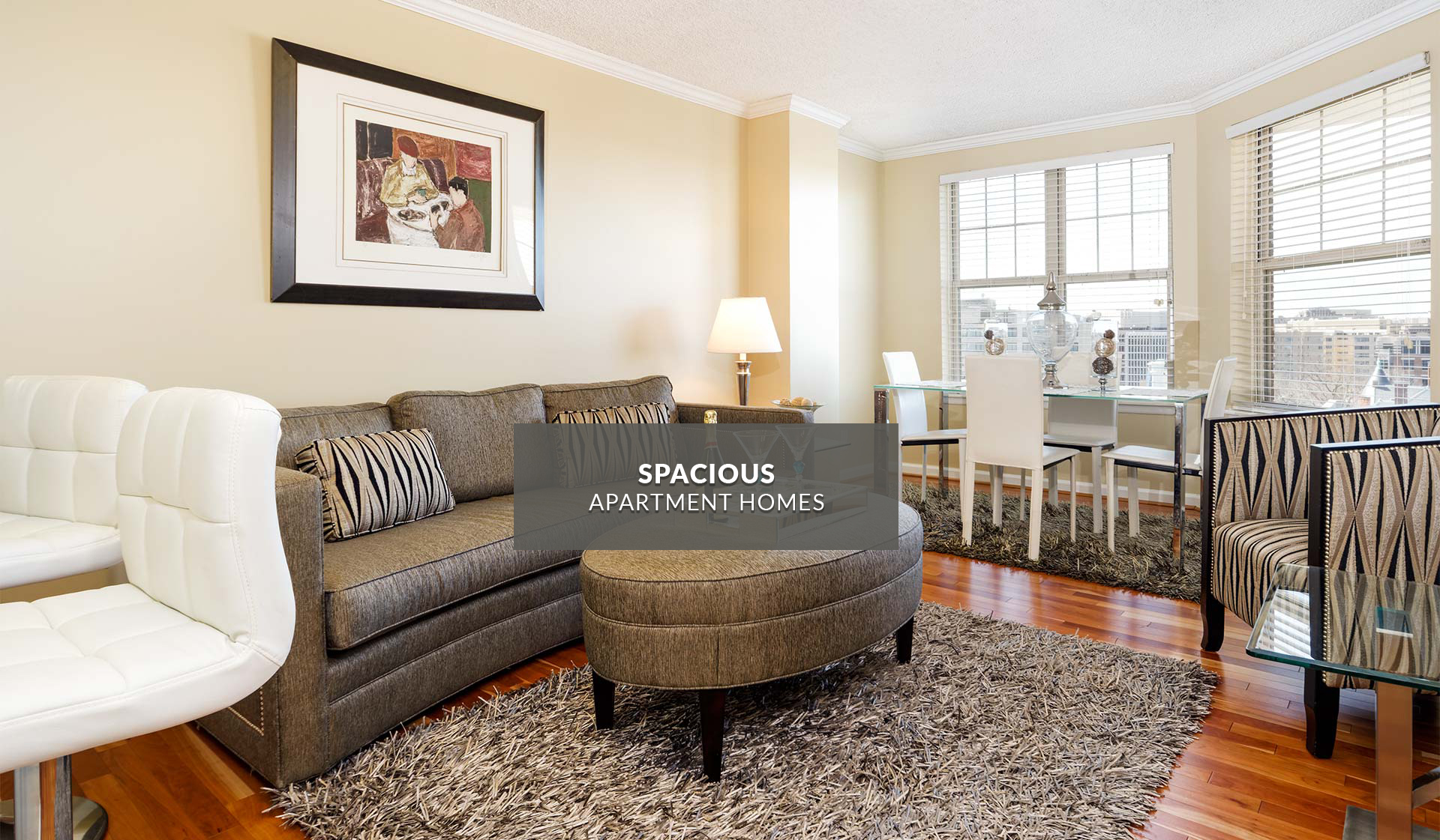 Latrobe Apartments - Living Room - Washington, DC